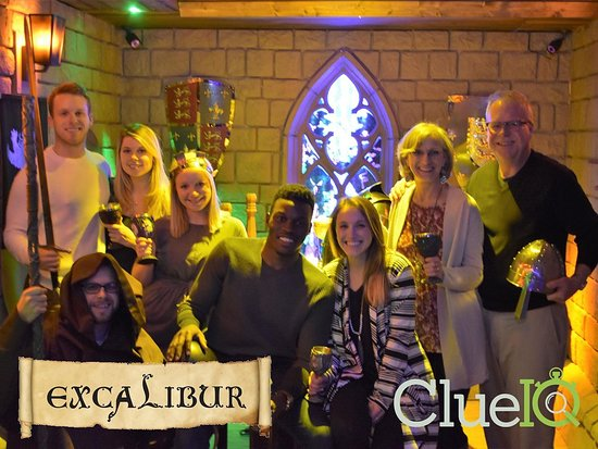 "Clue IQ: An Escape Room Experience: Success! Excalibur after we ""escaped"""
