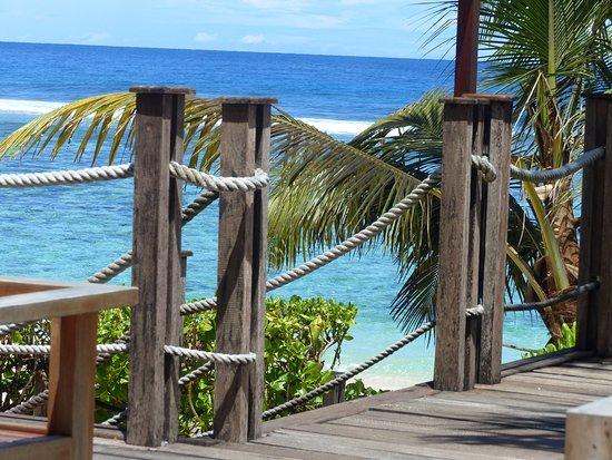 Anse Forbans, Seychelles: vue de la terrasse