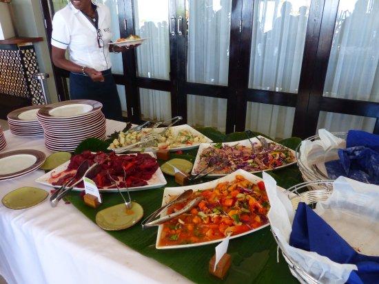 Anse Forbans, Ilhas Seychelles: le buffet d'entrée