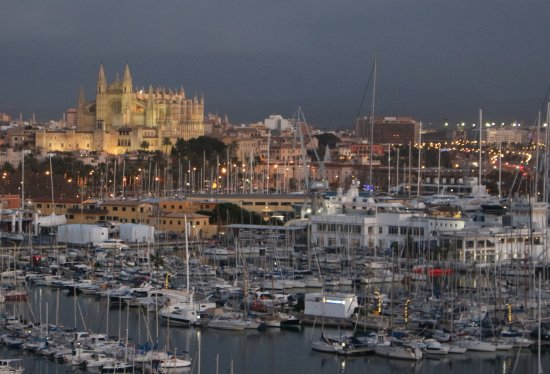 Hotel Palma Bellver Managed By Melia: View across marina to cathedral