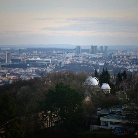 Štefánikova hvězdárna: view from the tower