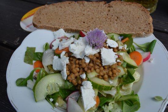 Annaberg-Lungotz, Austria: Homemade bread, homemade cheese an homemade vegetables