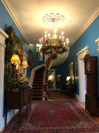 Taneytown, MD: Entry hall of Antrim 1844 Country House.