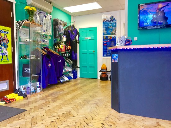 Redditch, UK: Scuba School Ltd Reception