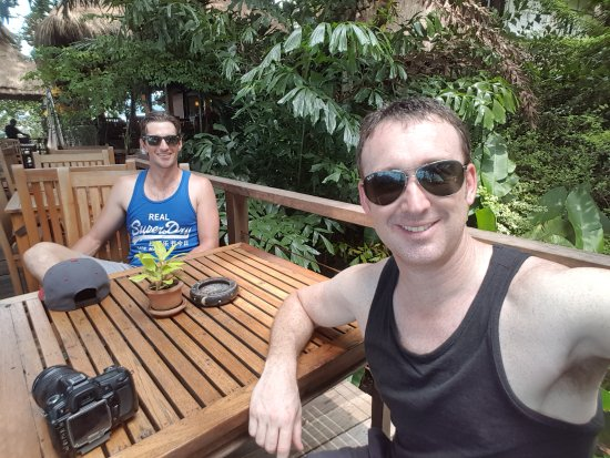 Tropical Spice Garden: The deck at the restaurant - a great place for a curry