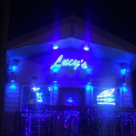 Lake of the Ozarks, MO: Lucy's at night...