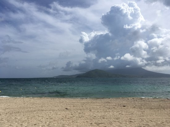 Costa Sur, Saint Kitts: Nevis from Banana Bay Beach, St. Kitts