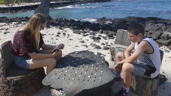 Honaunau, Hawaï : An ancient game