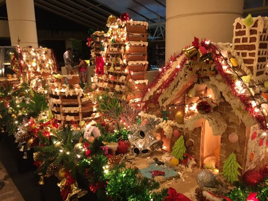 Hilton layout made of gingerbread - nice Xmas decoration - Picture ...