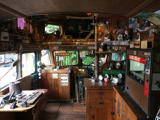 Papatowai, New Zealand: Inside the bus