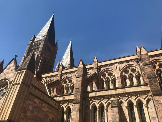 St. John's Anglican Cathedral: 青空に映える尖塔