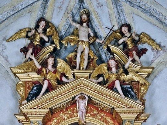 Mareson, Itália:   Particolare dell'Altare maggiore, di A. Brustolon (1731-32)