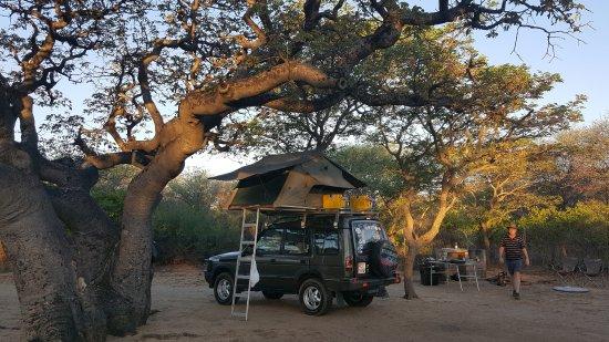 Khama Rhino Sanctuary: Our beatiful campsite.