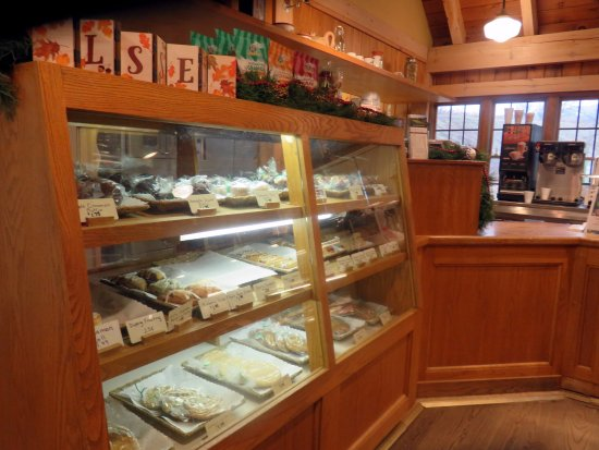 Galena, IL: baked goods display case at the General Store