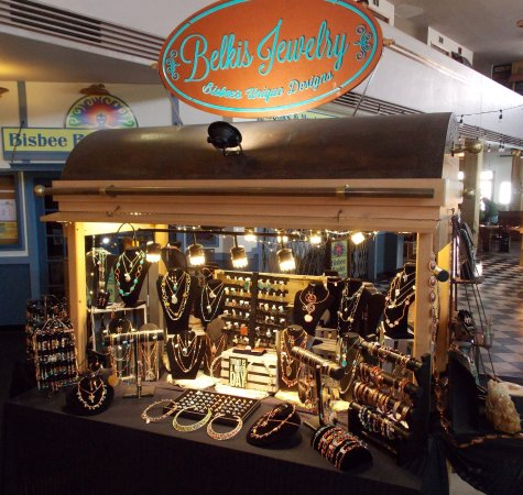 Handmade jewelry in the Bisbee Convention Center, 2 Copper Queen Plaza.
