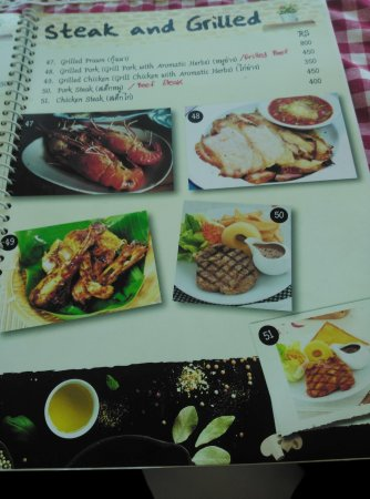 Bangkok Cafe Menu Dimapur