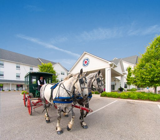 Blue Gate Garden Inn - Shipshewana Hotel : Shipshewana is home to Indiana's Amish community.