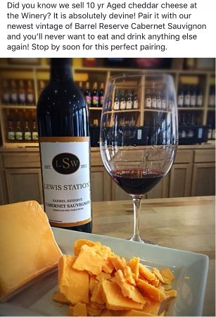 Lake Mills, WI : Nothing better than Barrel Reserve Cabernet and 10 Yr Cheddar!