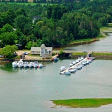 Restaurant overlooks the beautiful Cardigan Marina
