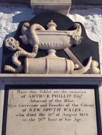 Bathampton, UK: Arthur Phillip's Tablet