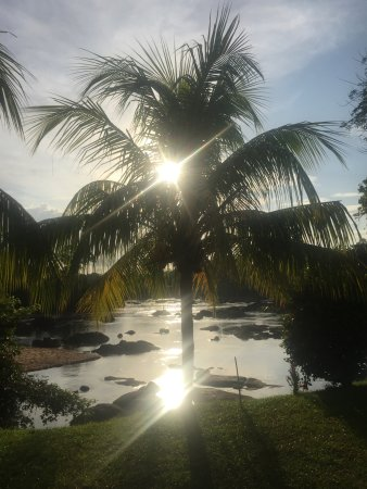 Bottopassi, Suriname: copper like colors at sunset, sipping on a glass of crispy cold white wine..... try to beat that