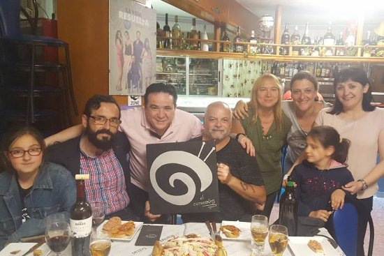 Bullas, España: Con mi mujer, amigos que son una familia y los dueños de casa