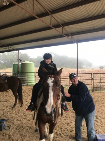 Blanco, TX: Travis was great with our nervous 8-year old first time rider. He was riding solo in no time.