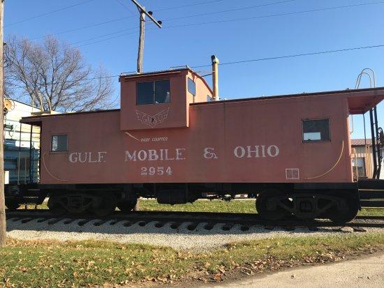 Monticello, IL: GM&O Caboose near the museum