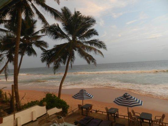 Nippon Villa Beach Resort: Вид из нашего номера, где шезлонги, там бассейн на 1 этаже