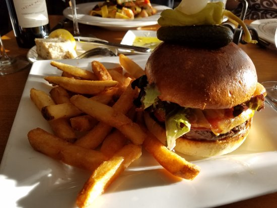 McMillin's Dining Room: The Burger is an affordable choice for dinner.