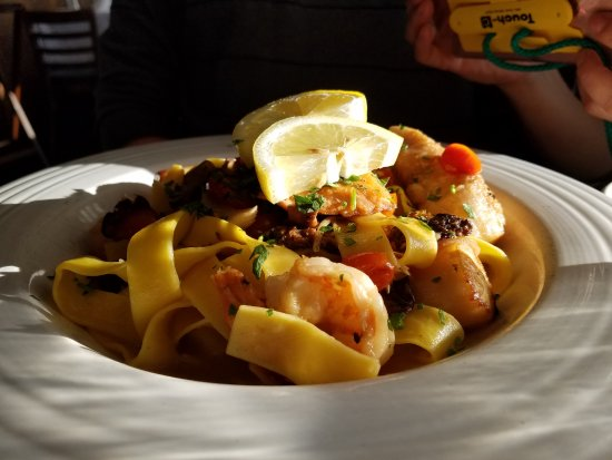 McMillin's Dining Room: Seafood pasta dish.
