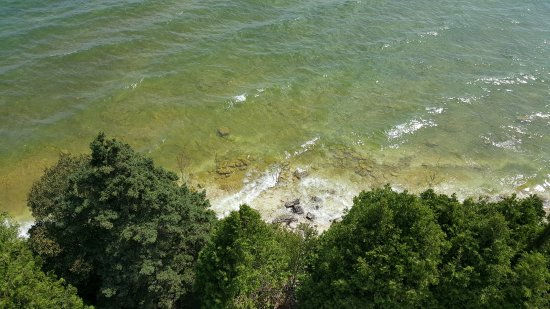 Baileys Harbor, WI: View looking down from the top of Cana Island Lighthouse.