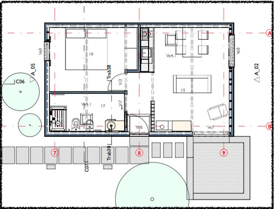 Layout Of The Garden Loft Picture Of Patio Lodge Cedros