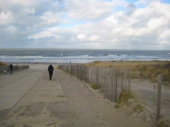 Ter Heijde, Hollanda: Duinovergang naar het strand, vlakbij het hotel