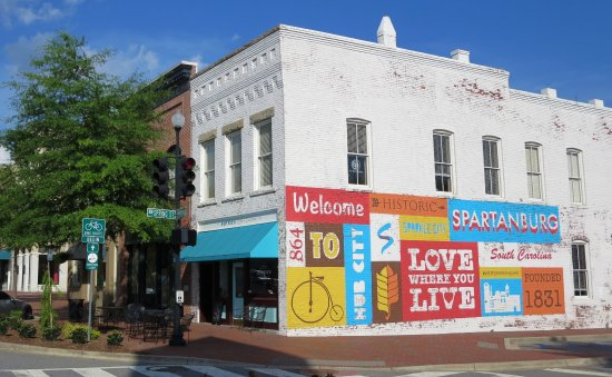 Love Where You Live Mural In Downtown Spartanburg