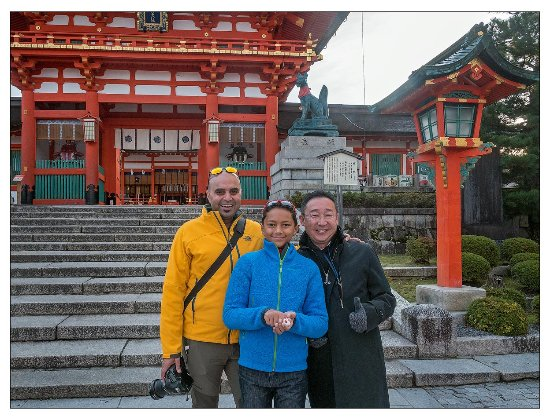 MK private TAXI: Outside Fushimi Inari
