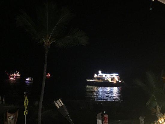 2020 Christmas Boat Parade In Kailua Kona Hawaii Christmas boat parade of llights   Picture of Gertrude's Jazz Bar
