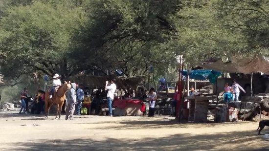 Valle de Santiago, Mexico: puestos de alimentos y paseo en caballo