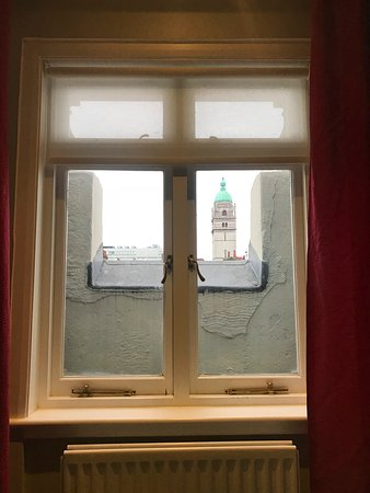"""The Queen's Gate Hotel: This is from my actual """"room with a view"""" - depressing and sad"""