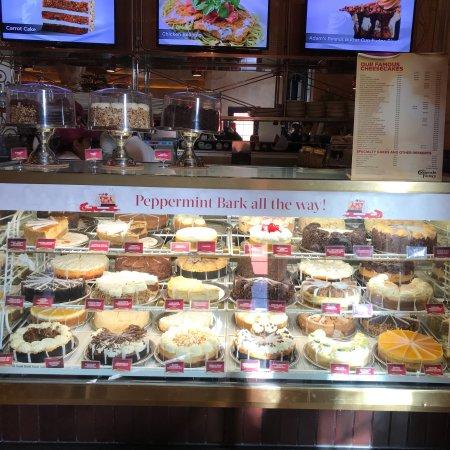 Hershey's cheesecake between moist chocolate cake with creamy chocolate frosting and chocolate chips Ultimate Red Velvet Cake Cheesecake Layers of red velvet cake and cheesecake covered in cream 3/5().
