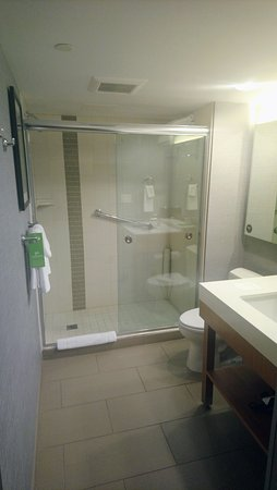walk in shower lighting. Hyatt Place Edmonton / Downtown: Gorgeous, Spacious Bathroom W/walk-in Shower Walk In Lighting T
