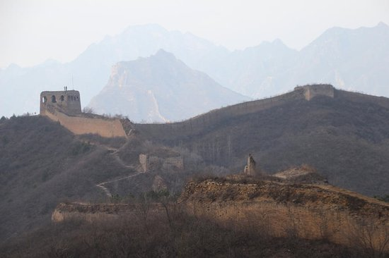 Luanping County, China: Great Wall at Panlongshan (Coiling Dragon Mountain)