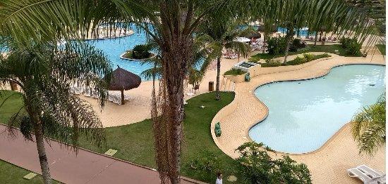 Vila Galé Eco Resort de Angra: Vista das piscinas a partir de nossa varanda