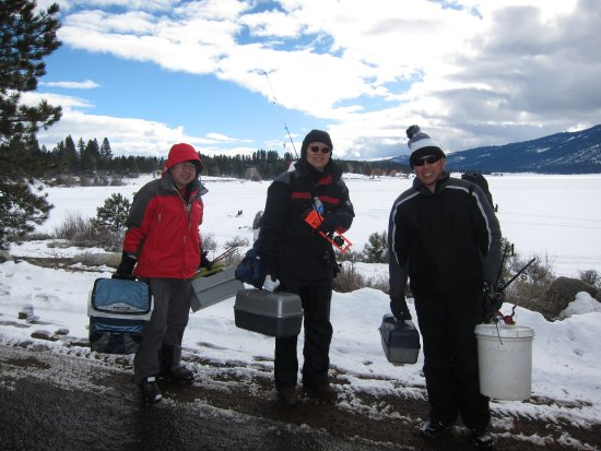 Cascade, ID: Want to go Ice Fishing?  World Record Perch are hiding there!