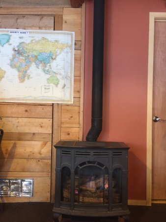 Fairplay, CO: sat by the stove and map of visitors