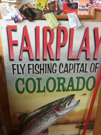 Fairplay, CO: Poster in the foyer