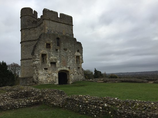 Donnington Castle: Front View with reamins of castle entrance