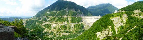 Jvari, Geórgia: Панорама местности вокруг ГЭС