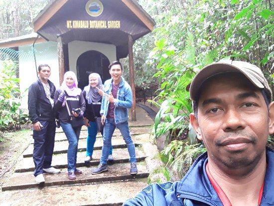 Exotic Borneo Travel Management: Wefie with Tika San aka Tiger Wood at Kinabalu Botanical Garden.