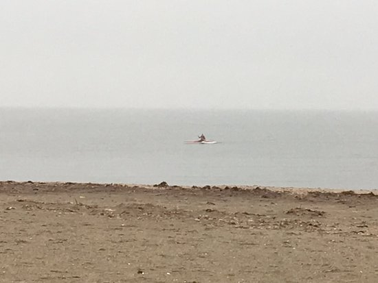Gulf Beach: 1 lonely kayaker